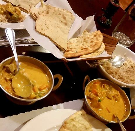 Namaste Kitchen Sebastopol by Garlic Naan Korma And Brown Rice Delicious Picture Of