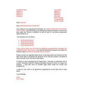 Complaint Letter To Your Landlord Sle Letter To Landlord For Repair Request Cover Letter Templates