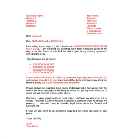 how to write a complaint letter to landlord cover letter
