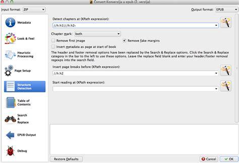 epub format structure konverzija e sadržaja u epub format postupak konverzije