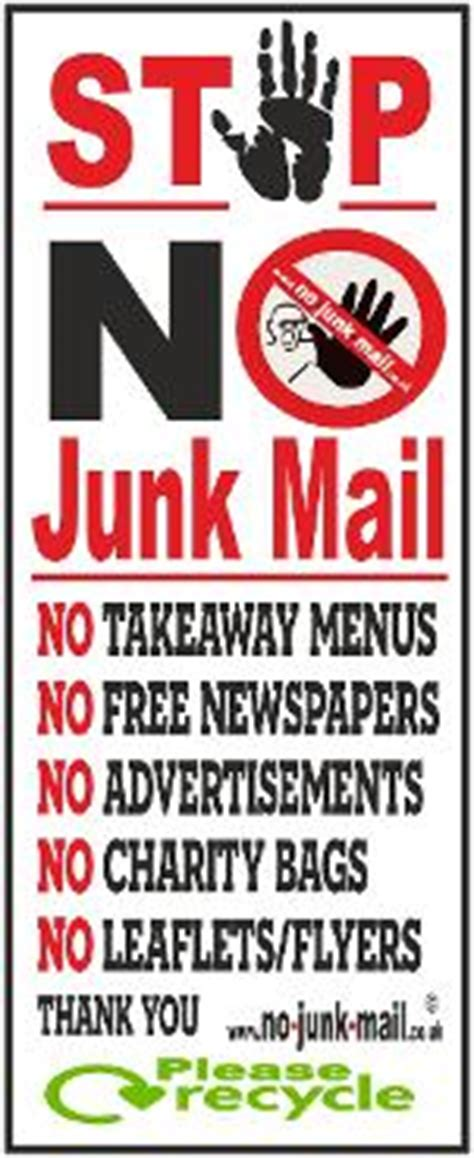 Recycled Labels To Combat Junk Mail by Letterbox Signs Stickers No Junk Mail Letterbox Stickers