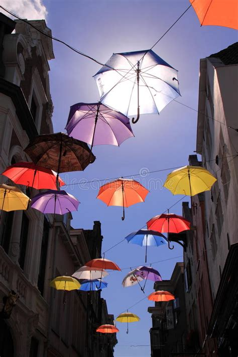 X2 3746 St Umbrella colourful umbrellas with blue sky stock image image 32968485