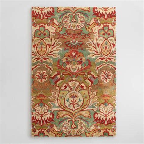 cost plus world market rugs 38390 xxx v1 jpg floral medallion tufted wool rug