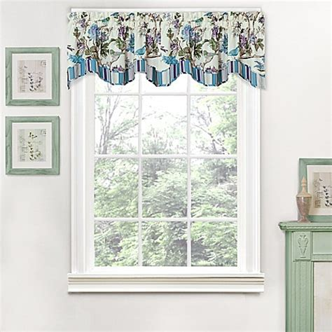 bed bath and beyond larkspur buy waverly 174 charleston chirp larkspur scalloped window