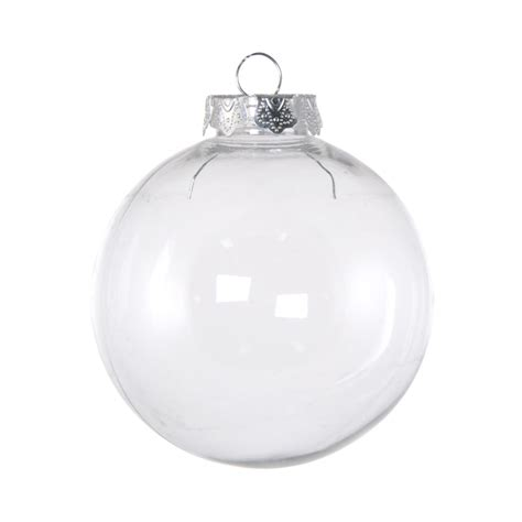 60mm budget clear plastic ornaments box of 6 co15 100