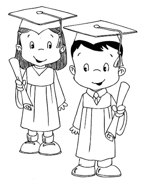 graduation girl coloring page student coloring pages free a preschool girl student on