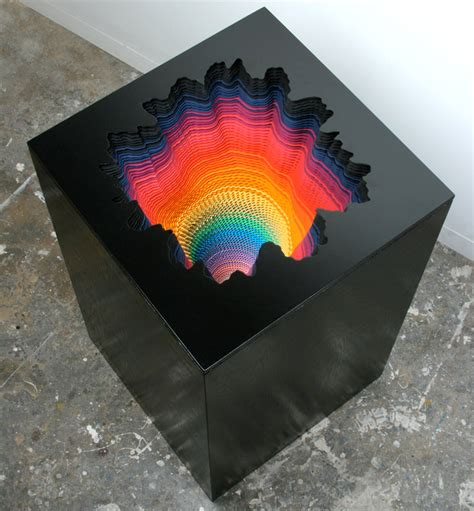 Paper Sculptures - jen stark cut paper sculptures mat fab