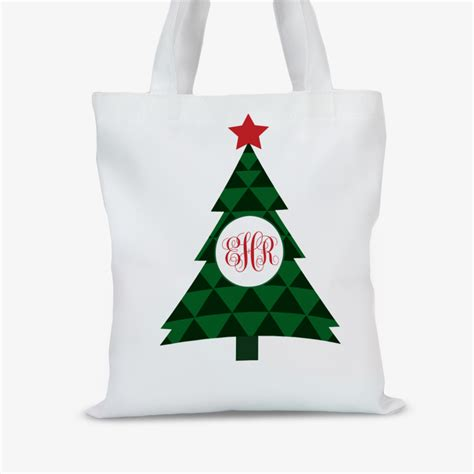 personalized holidays christmas tree tote bag great buys