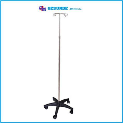 Alat Kesehatan Tiang Infus Tiang Infus Portable 5 Roda Stainless Steel Toko Medis