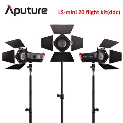 best film lighting kit aputure cri 97 ls mini20 flight kit ddc fresnel cob led