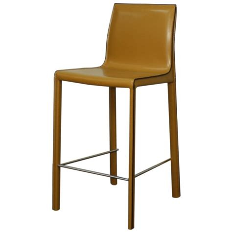recycled bar stools gervin recycled leather counter stool