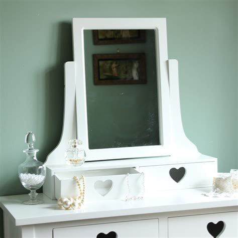 dressing table with mirror and drawers images white heart two drawer dressing table mirror and stool set