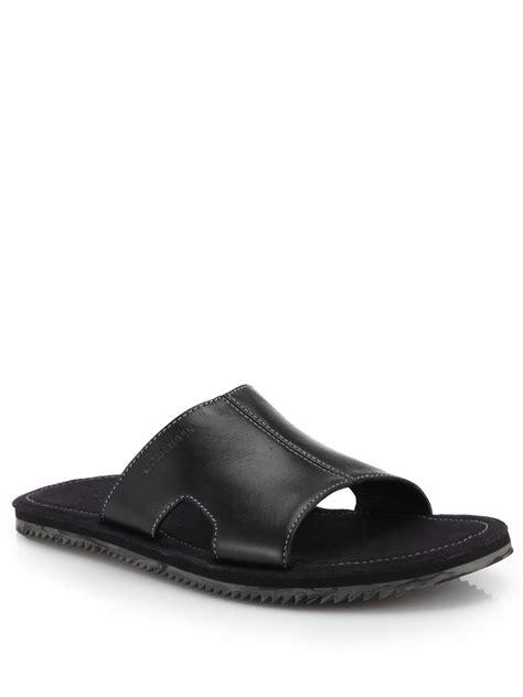 cole haan sandal cole haan meyer slide sandals in black for lyst