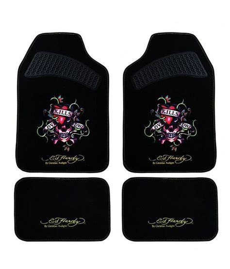ed hardy love kills slowly car floor mats for mahindra