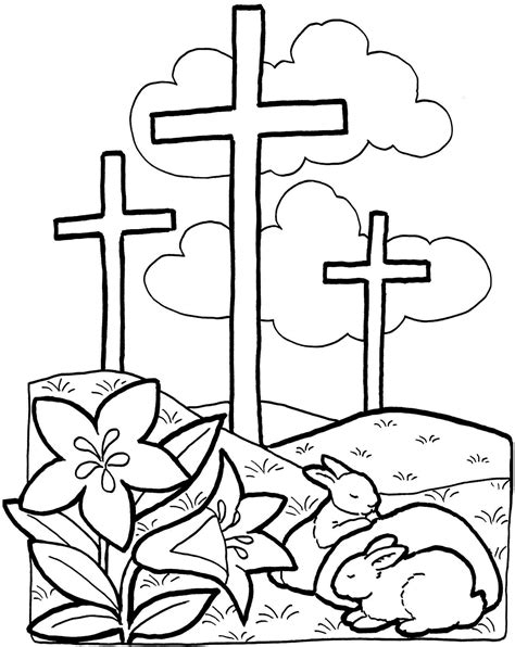 coloring page easter religious christian coloring page coloring pages