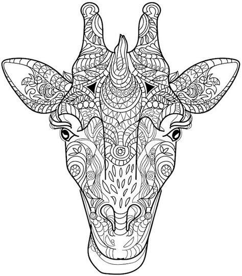 difficult giraffe coloring pages giraffe coloring page colorpagesforadults