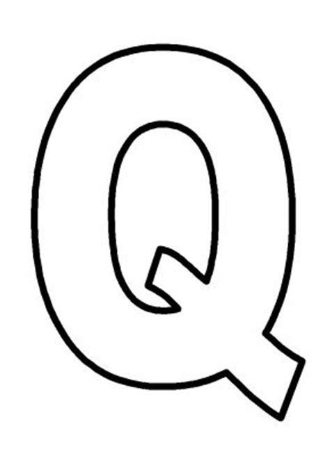 printable letter q pictures capital letter q colouring pages