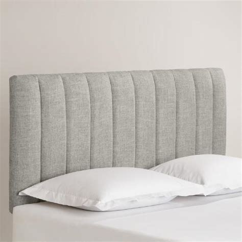 upholstered linen headboard linen reilly upholstered headboard world market