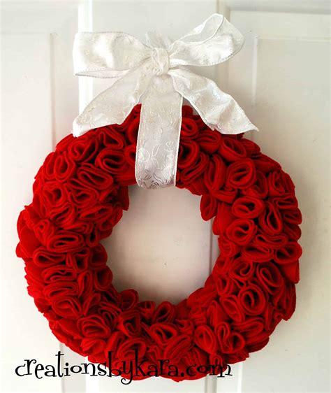 valentines day wreaths felt s day wreath