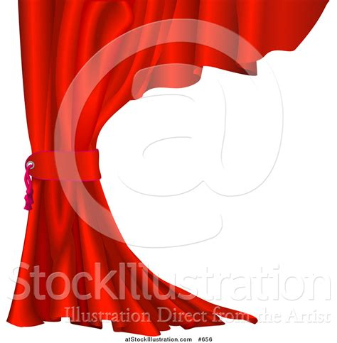 pull back curtains theater curtain clipart