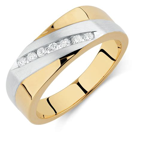 Ee  Mens Ee   Ring With   Catw Of Diamonds In Ct Yellow