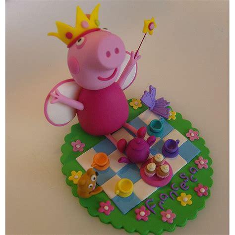 Peppa Pig Princess Peppas Tea cake model topper princess peppa pig and teddy a picnic tea ideas