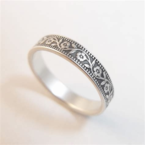 Silver Wedding Bands by Sterling Silver Wedding Band Womens Wedding Band