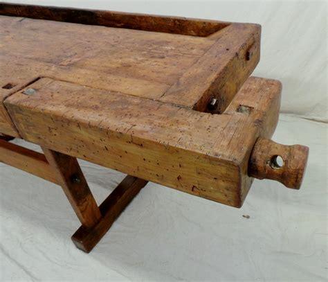 morsa per banco da falegname vecchio banco da falegname viti e morse in legno dettaglio