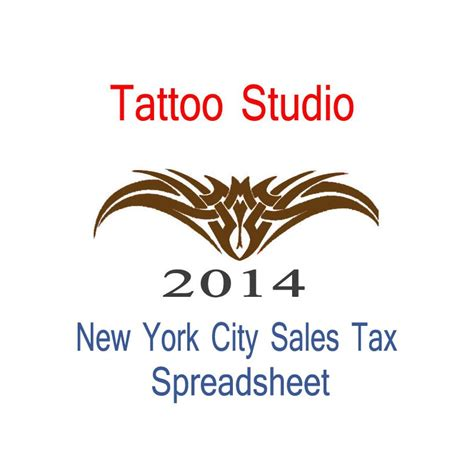 new york city tattoo studio accounts amp sales tax