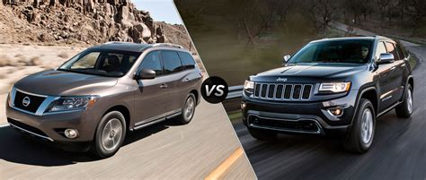 nissan jeep 2014 2014 nissan pathfinder vs 2014 jeep grand cherokee