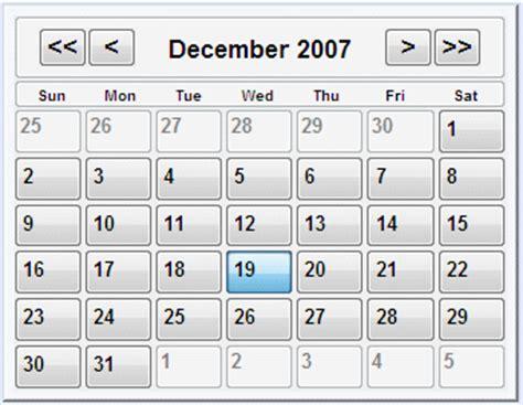 Html Calendar Code Calendar