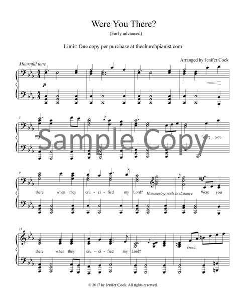 were there the church pianist 187 advanced piano solos