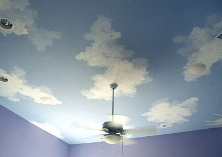 home dzine how to paint clouds on walls or ceiling