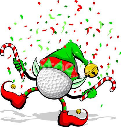 christmas images golf christmas elf stock vector freeimages com