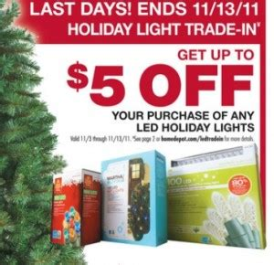 reminder home depot holiday light trade in my frugal