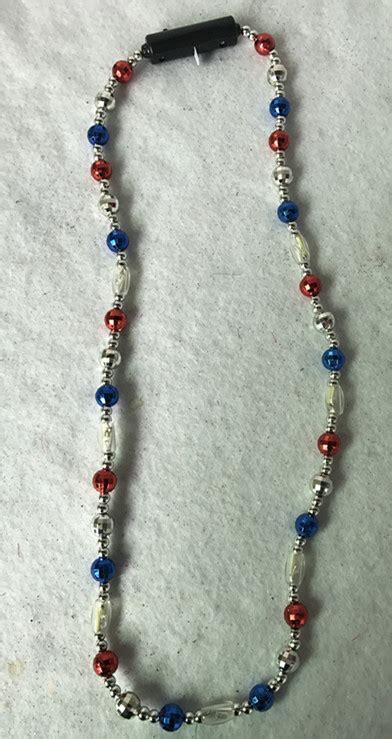 up bead patrioticflashing light up led bead necklaces lighting