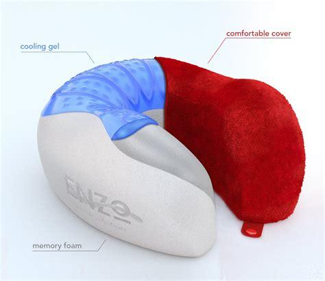 Cool Gel Neck Pillow enzo travel pillow memory foam cooling gel neck pillow microfiber velour promotion t4d2x1o1