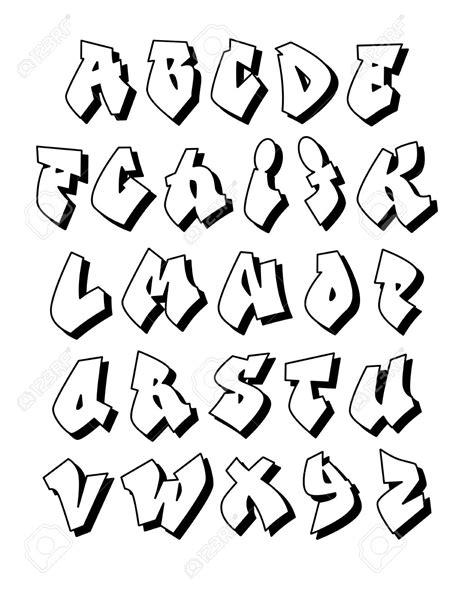 graffiti lettere alfabeto alfabeto de grafite