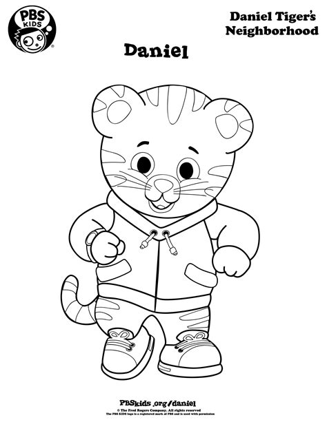coloring page daniel tiger coloring pages best coloring pages for