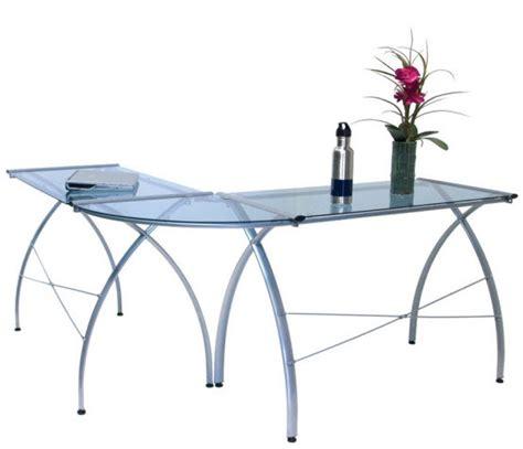 Great Desk Ls by L Shaped Glass Top Desk Whereibuyit