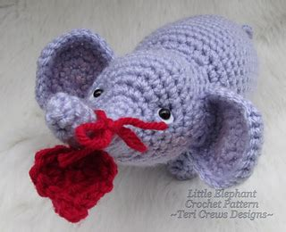 ravelry patterns library little hearts ravelry little elephant crochet pattern pattern by teri crews