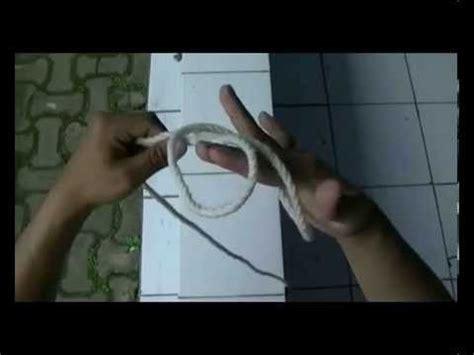tutorial membuat tali kur pramuka praktek pembelajaran membuat simpul tali temali pramuka