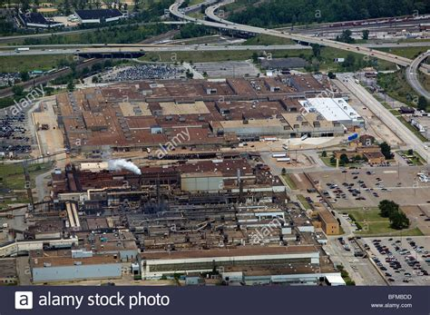 cleveland ford plant aerial view above ford motor company engine plant