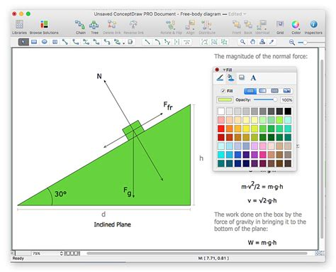 physics drawing software drawing physics illustrations conceptdraw helpdesk
