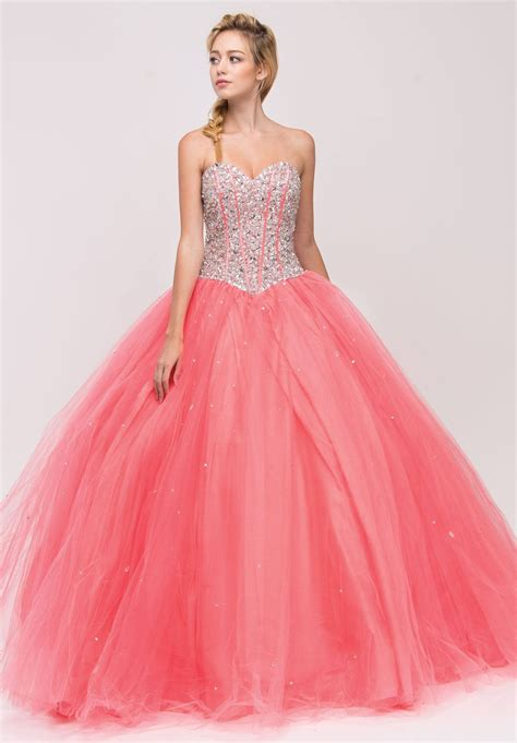 beaded corset beaded corset bodice strapless coral princess gown