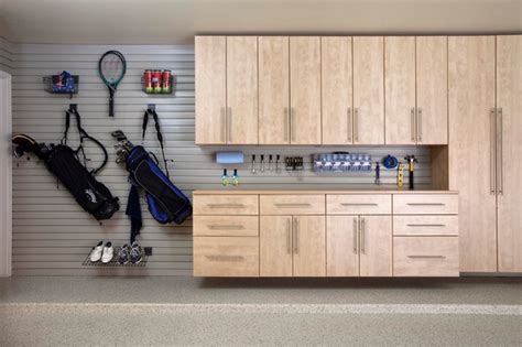 Maple Garage by Maple Garage Cabinets With Slatwall