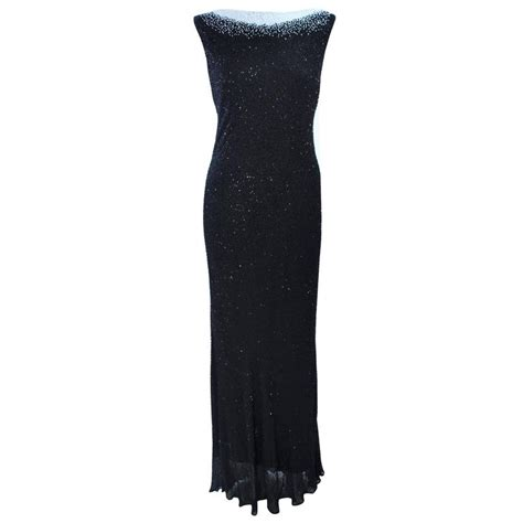 jovani black beaded dress jovani black and white beaded gown size 6 8 for sale at