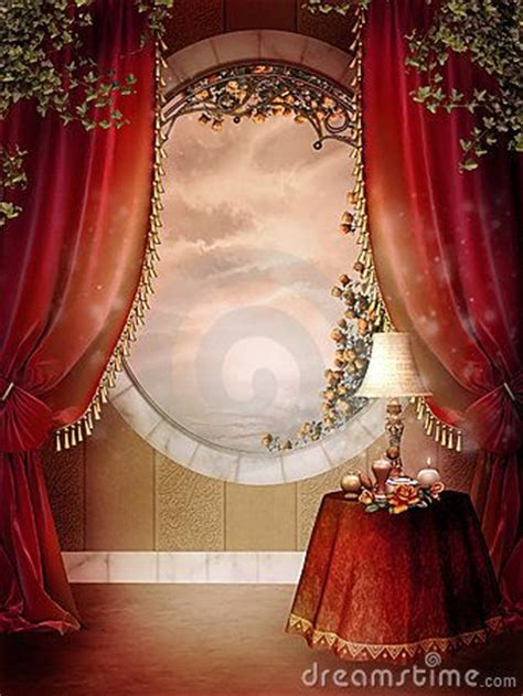 victorian bedroom curtains victorian bedroom with red curtains royalty free stock