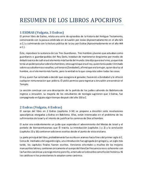 5 Resumenes De Libros Cortos by Los Libros Ap 243 Crifos Resumen Y Errores