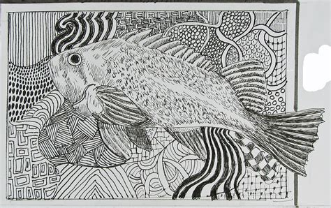 pattern drawing fish zentangle stafford artworks
